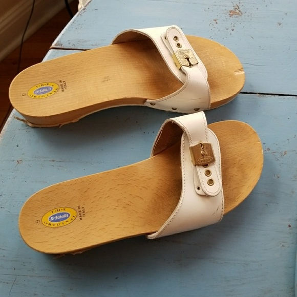 0245f2a9e002 Dr. Scholl s Shoes - Vtg Dr. Scholl  s Original Wood Exercise Sandal